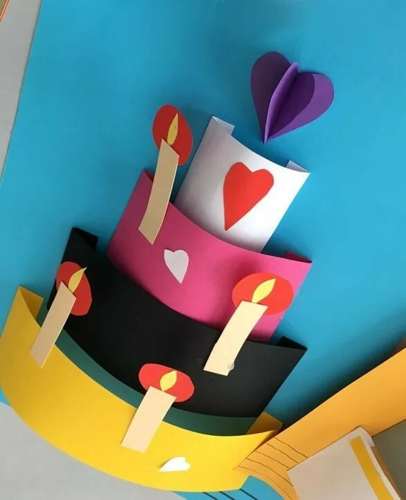 Открытка с днем рождения 3 летнему ребенку своими руками