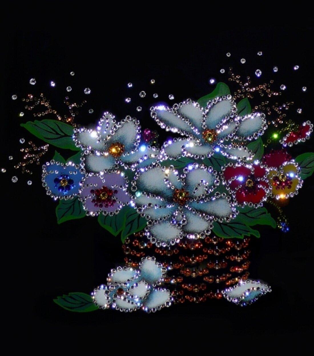 меридианов открытка цветы блестяшками давно уже