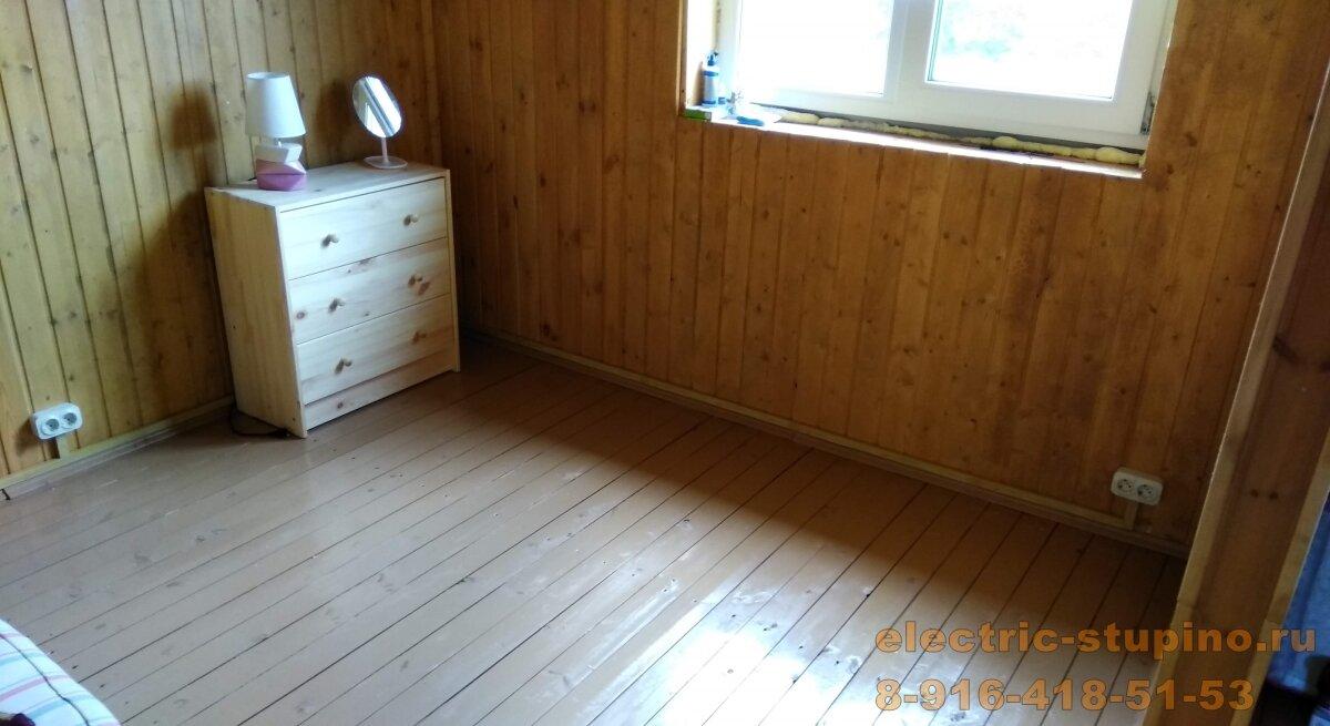 Монтаж розеток в деревянном доме
