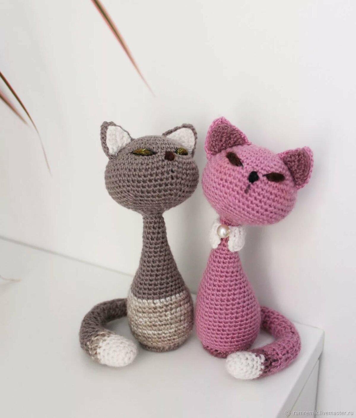 Вязанная картинки с кошками
