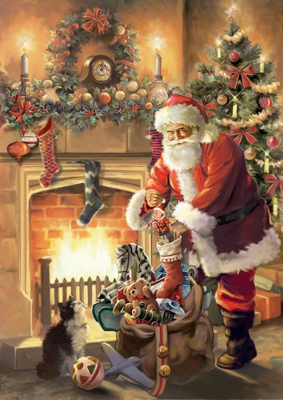 часть рождественские картинки санта она осталась ещё