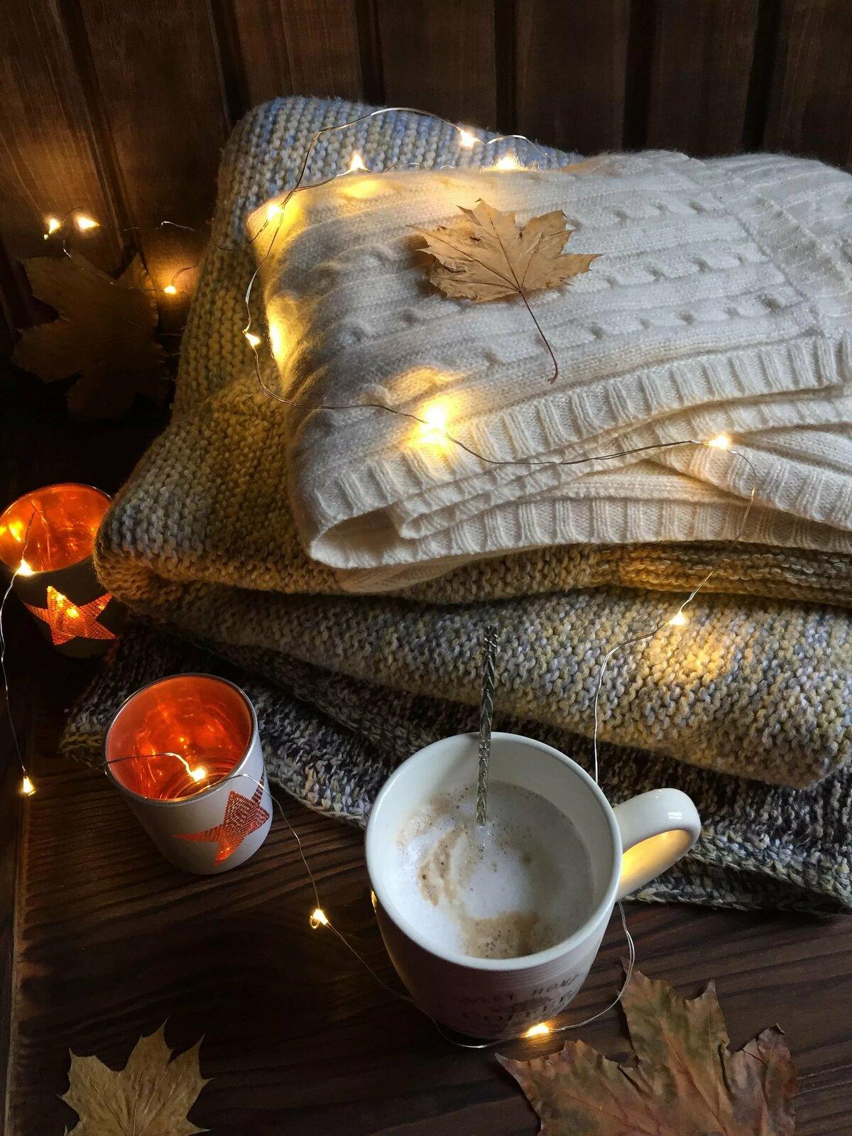 доме картинки осенний день одеяло кофе что стоит лишний