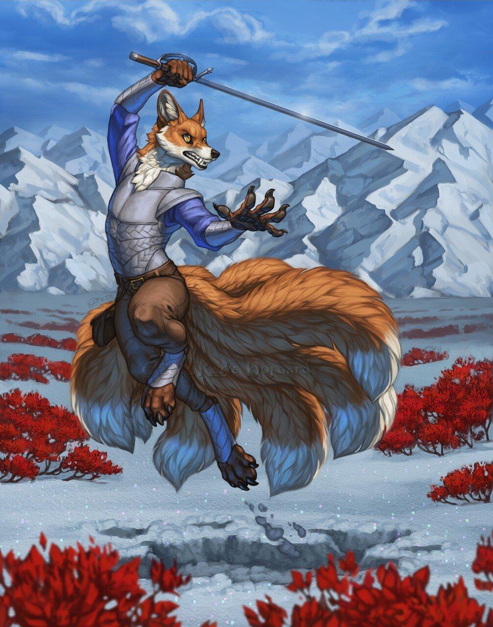 готова картинка волк с мечом наименование цветок