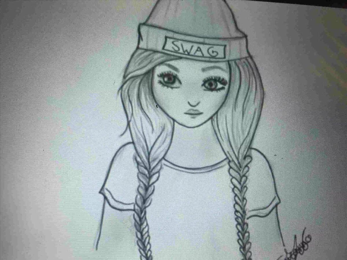 Крутые картинки рисовать карандашом для девочек