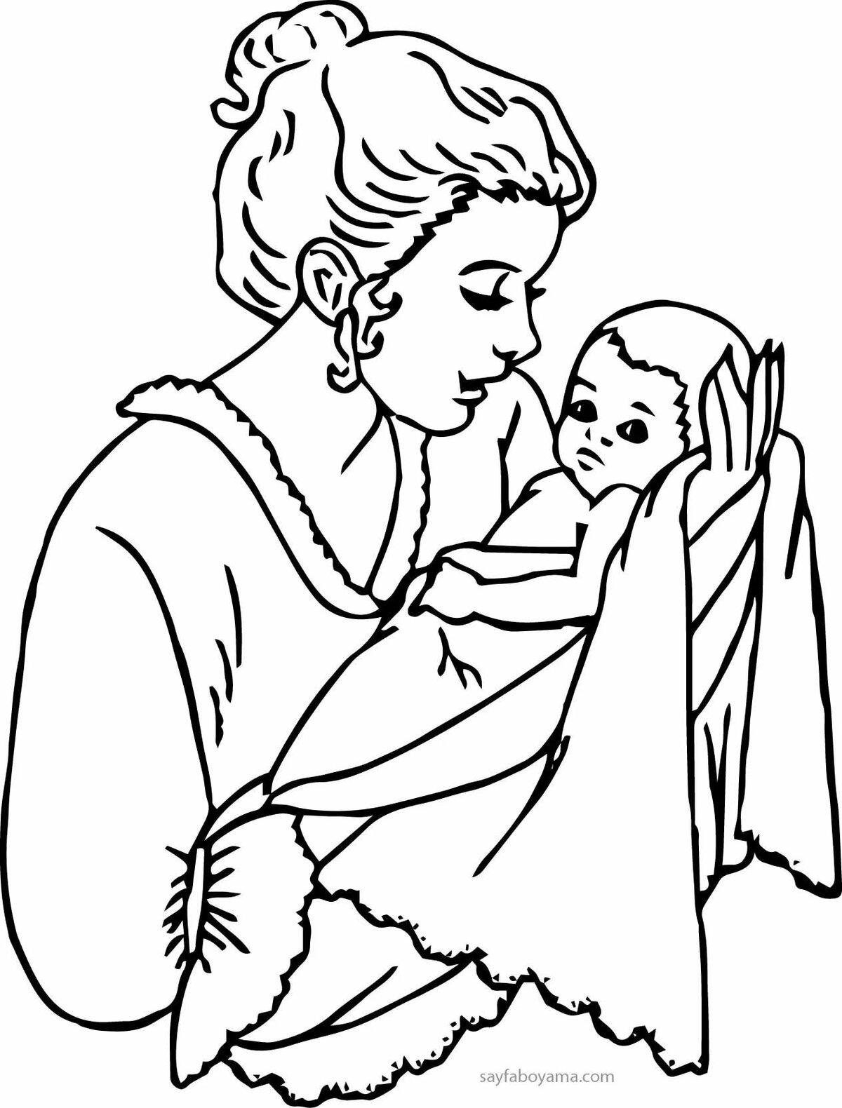 Картинки ко дню матери нарисовать карандашом