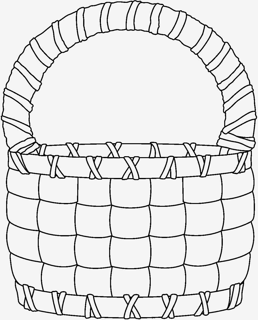 Картинка корзинки нарисованная