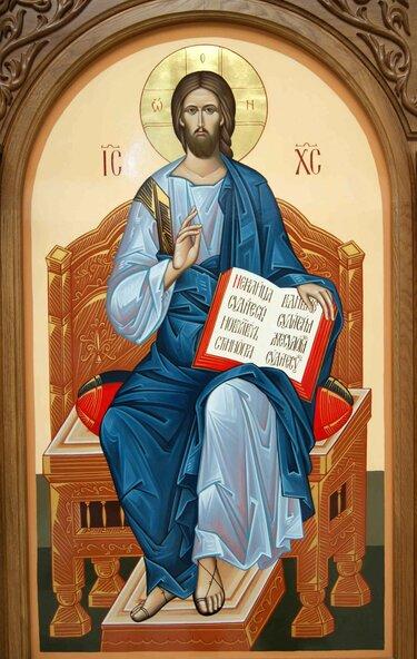 икона господь вседержитель на престоле