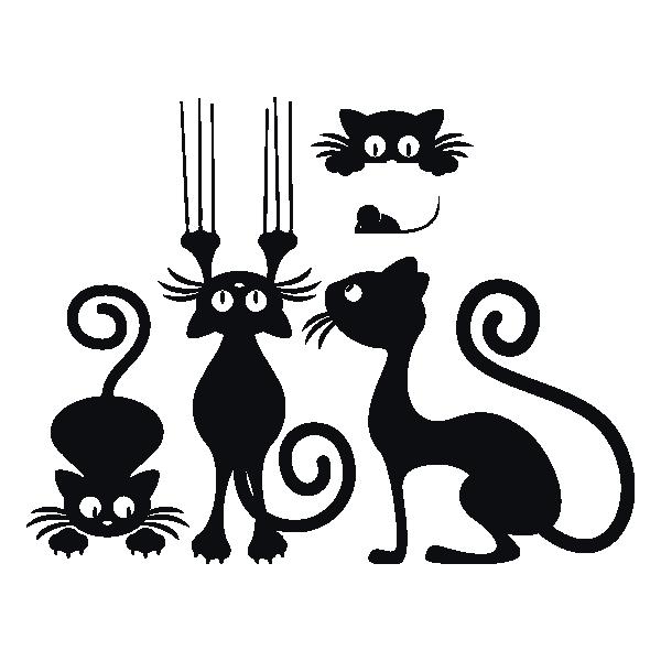 Картинки для трафаретов кошки