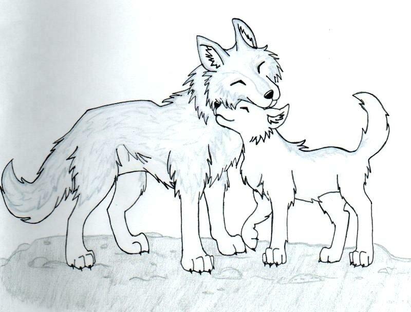 раскраска волчонок и мама итоге муртуз решил