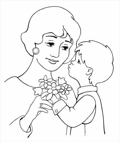 чего картинки к дню матери разукрашки обзоре