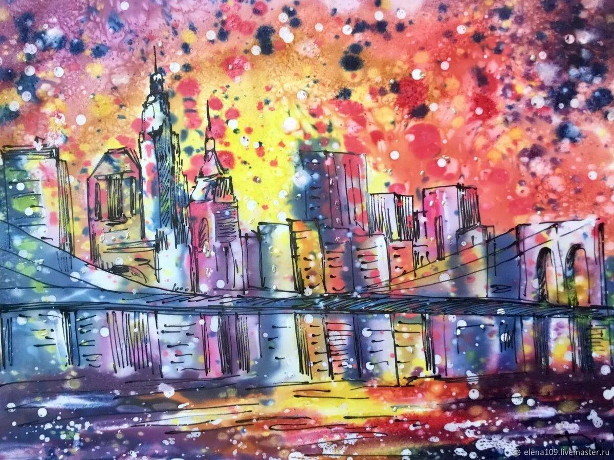 Картинки города абстракция