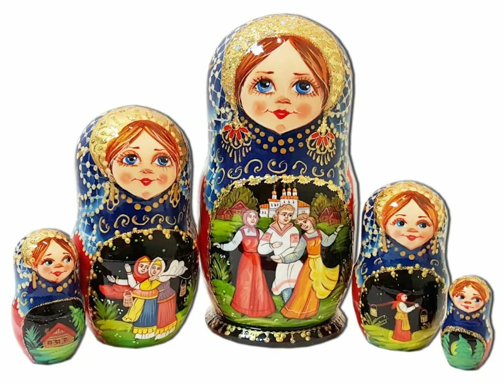 картинки анимационные матрешки русские