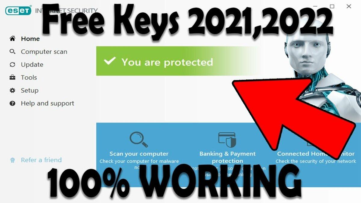 """ESET NOD32 Antivirus license key valid 20212022 ESET ..."