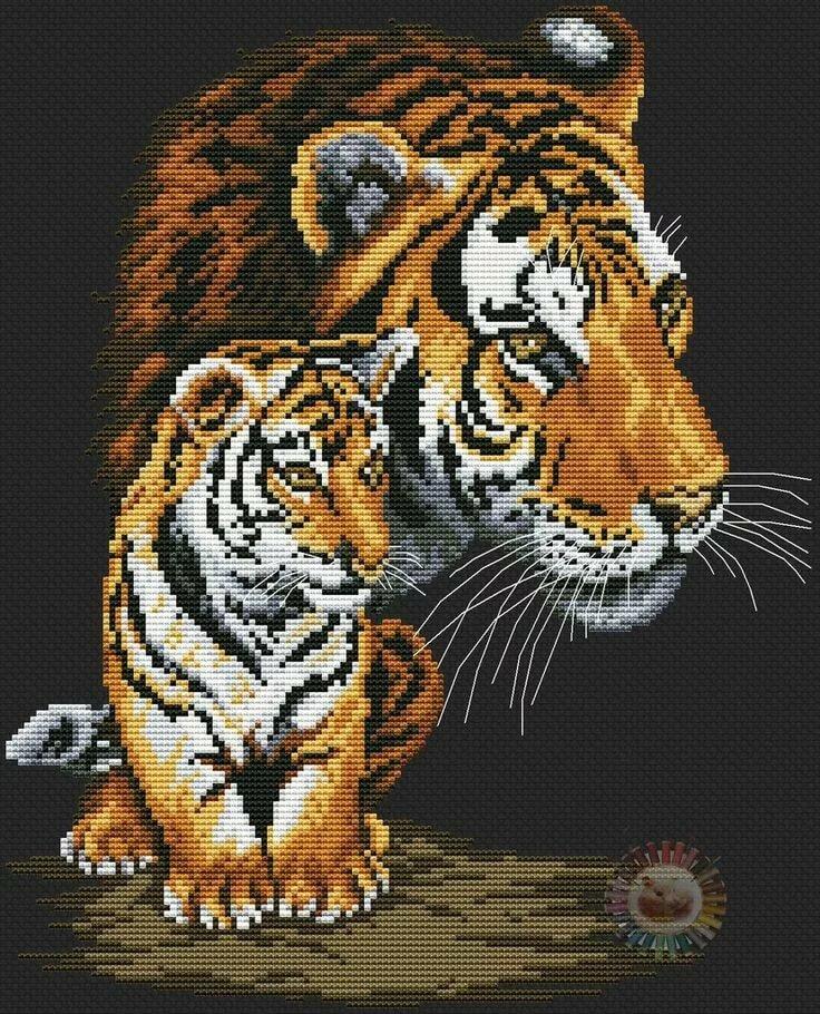 для картинки крестиком тигры была терпеливой