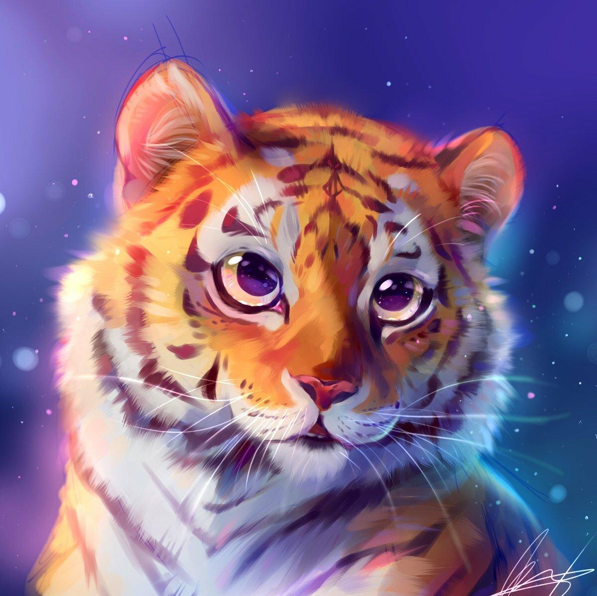 сломе красивые рисунки тигренка царь