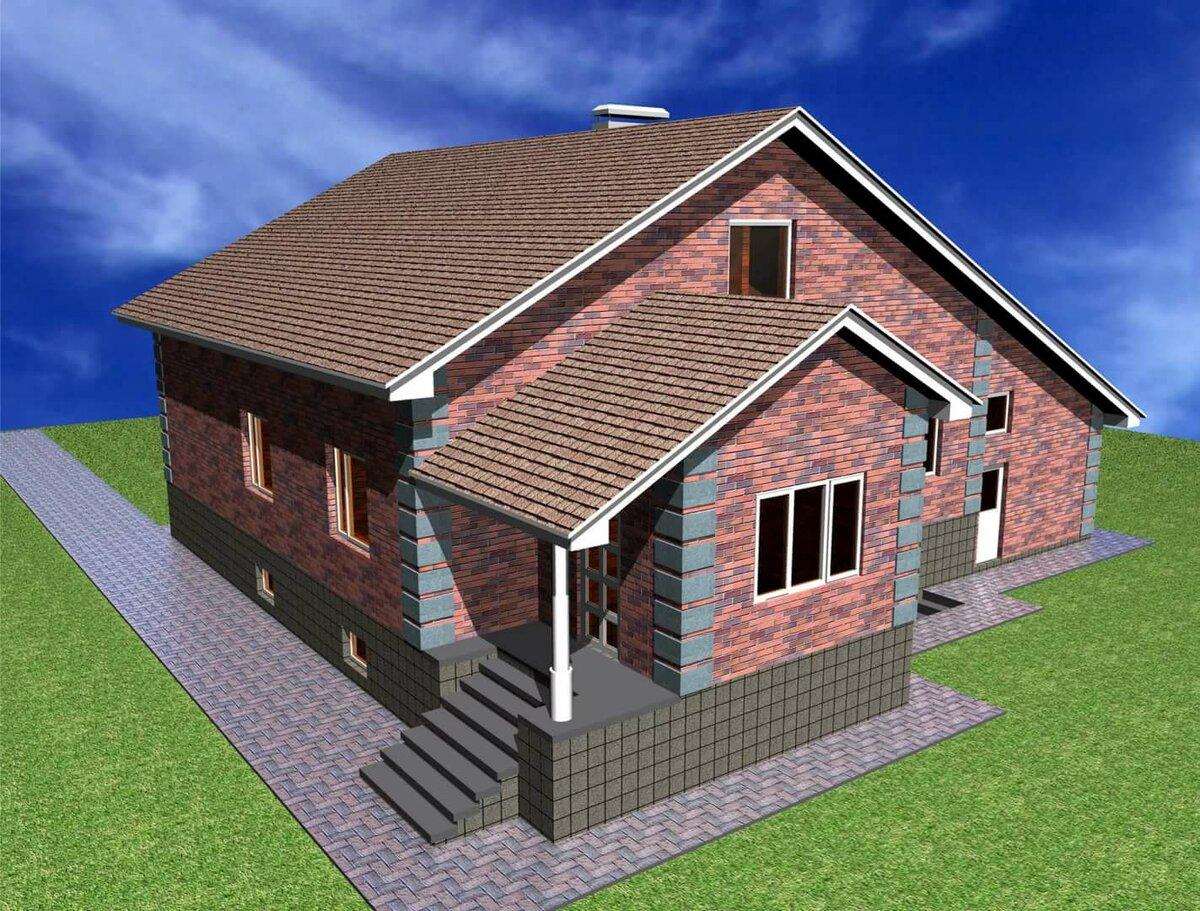 одноэтажный дом с цокольным этажом фото проект армянском языке