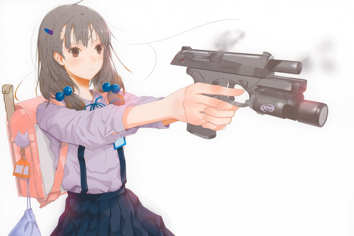 Аниме с пистолетом картинка