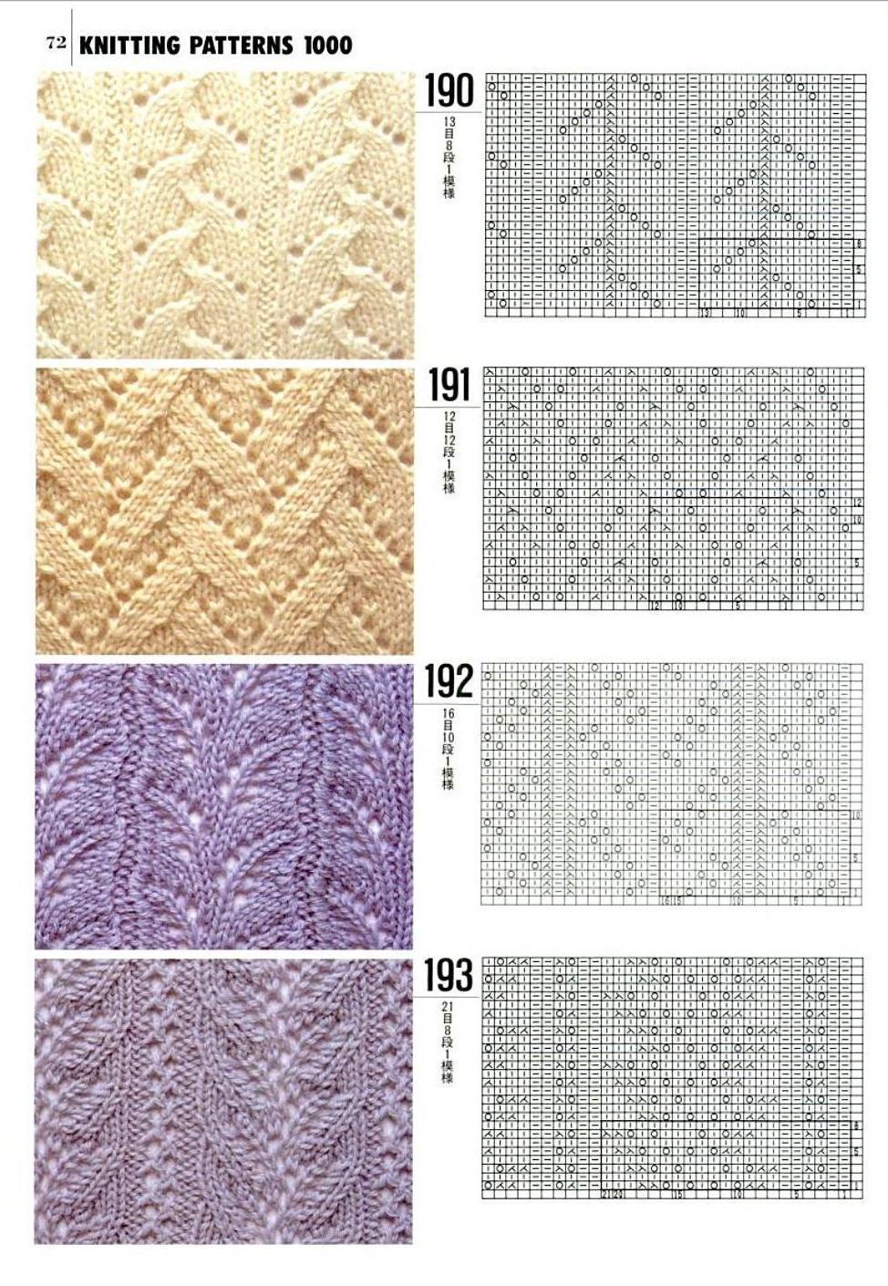 схемы вязания узоров спицами хорошодома схемы вязания узоров