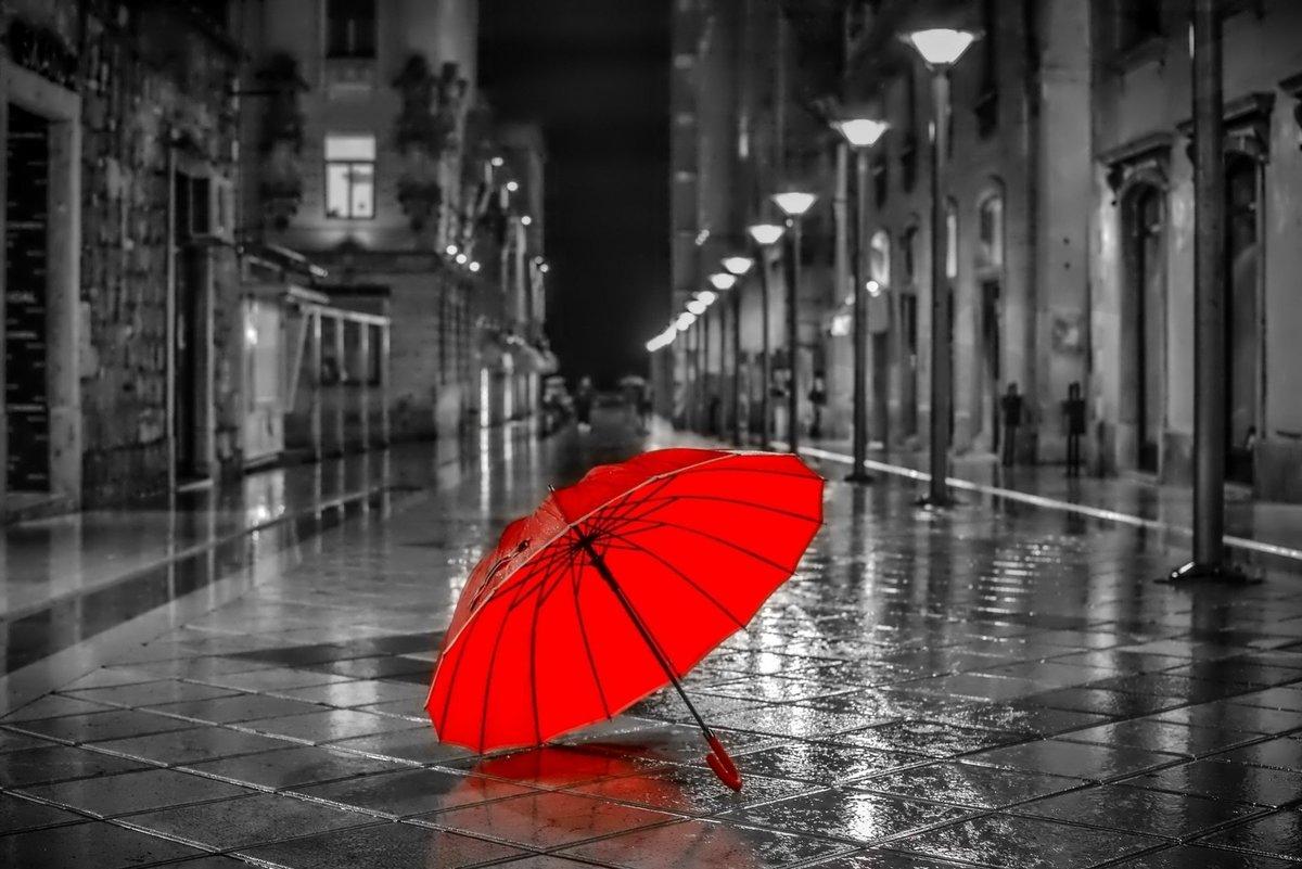 Черно-белые картинки с красными элементами, открытки