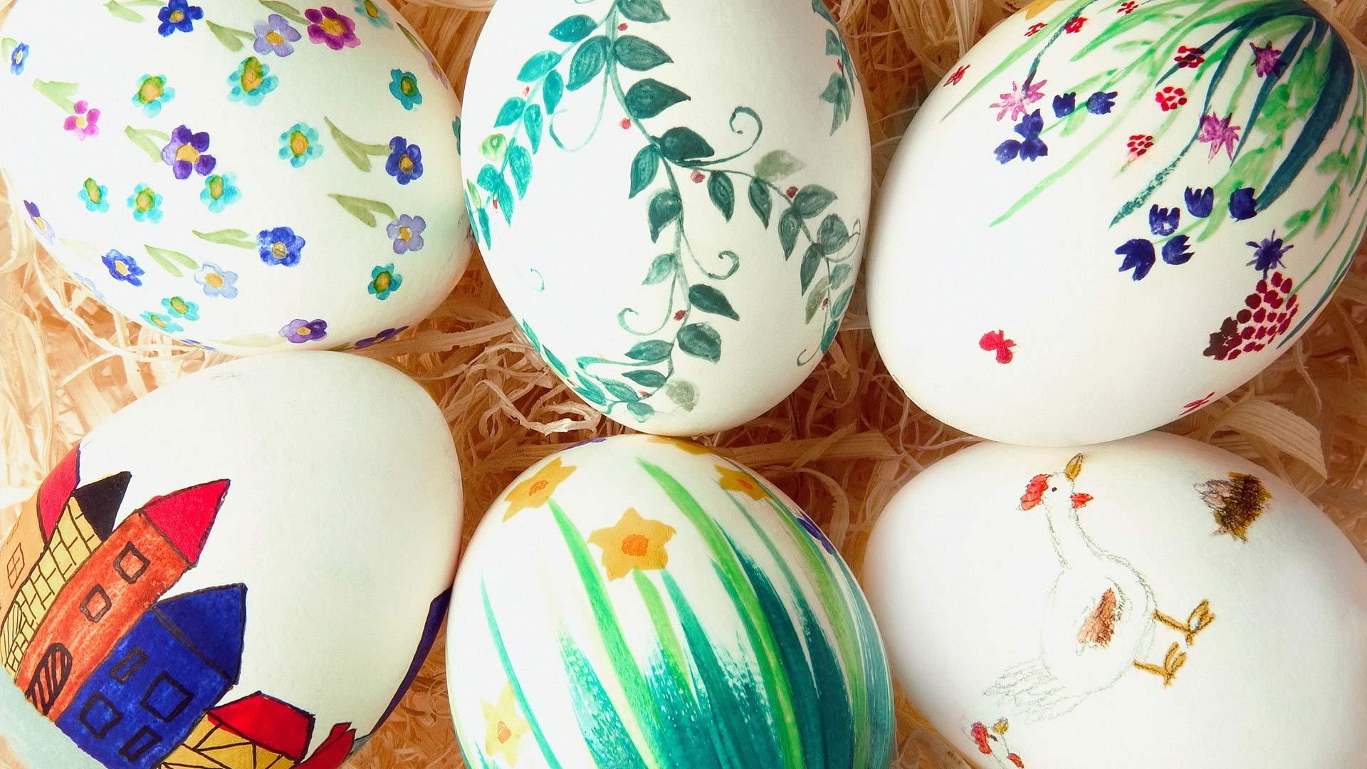 фото рисунки на яйцах