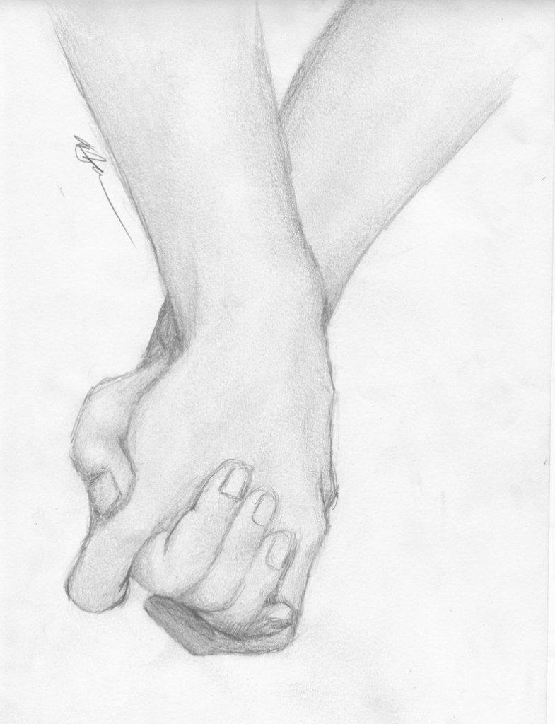 Картинки влюбленные руки рисунки