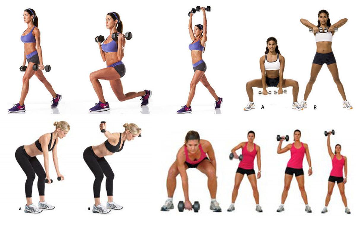 упражнения для зала для похудения в картинках это