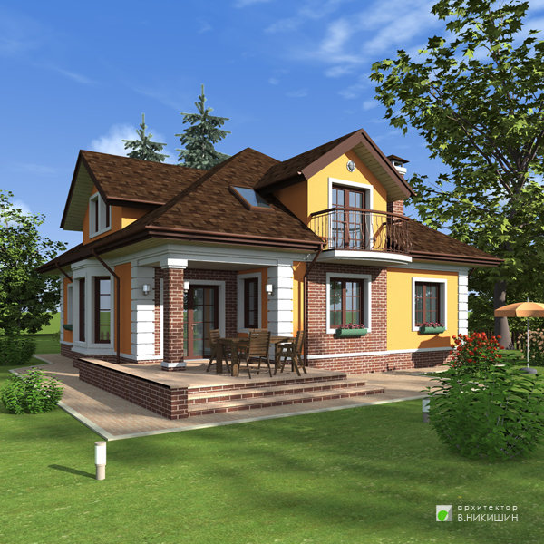 Эскизный проект загородного дома эп