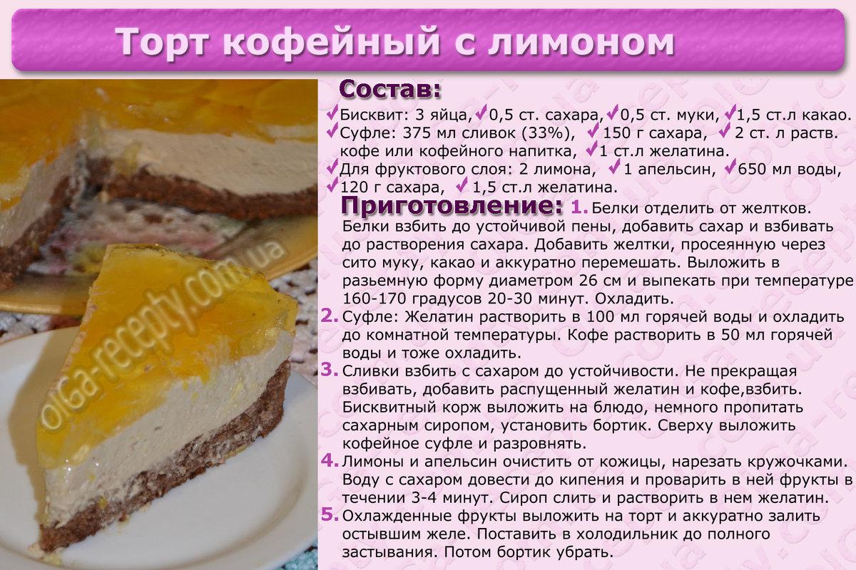 Простые рецепты тортов картинками
