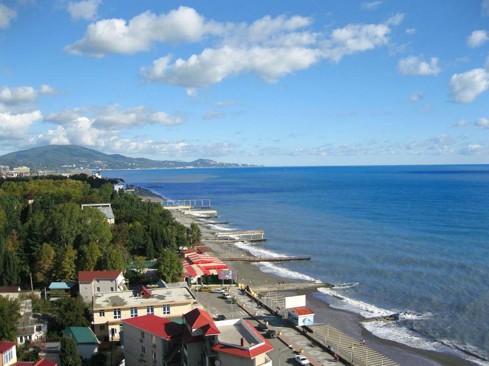 Адлер картинки города и пляжа, открытки днем