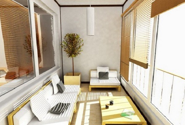 Дизайн балкона совмещеный с комнатой фото москва.
