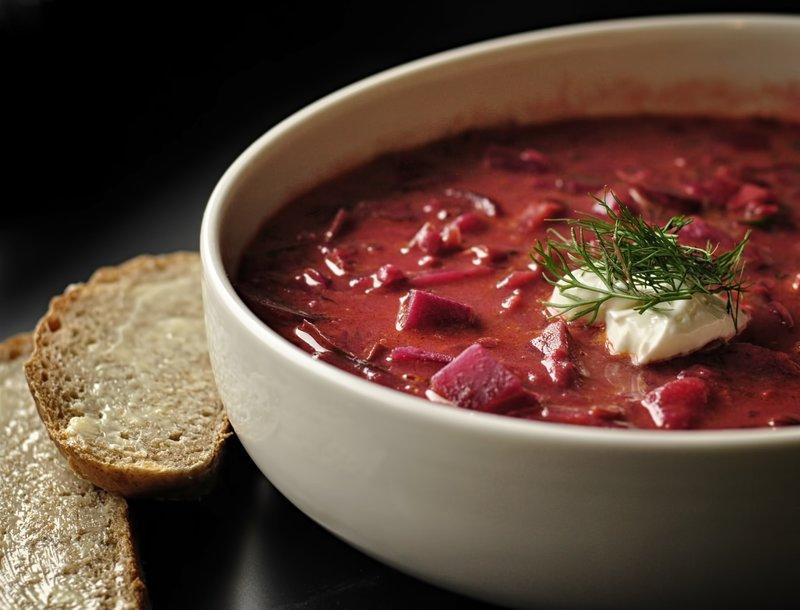 красный борщ без мяса рецепт с фото