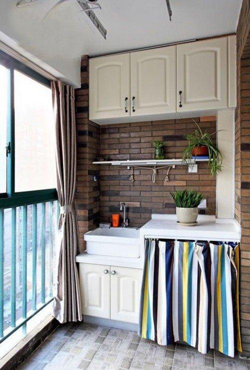 одежды логотипами кухня на балконе или лоджии фото дизайн профессиональные