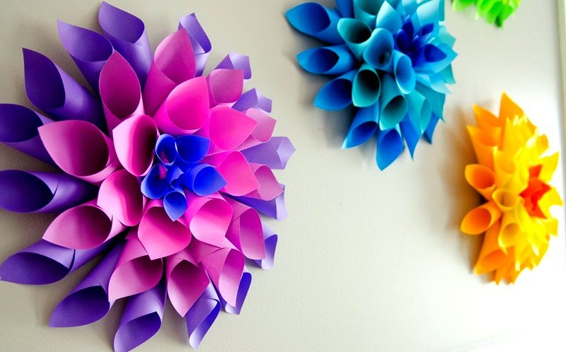 Украшения для открыток цветы из бумаги, картинки