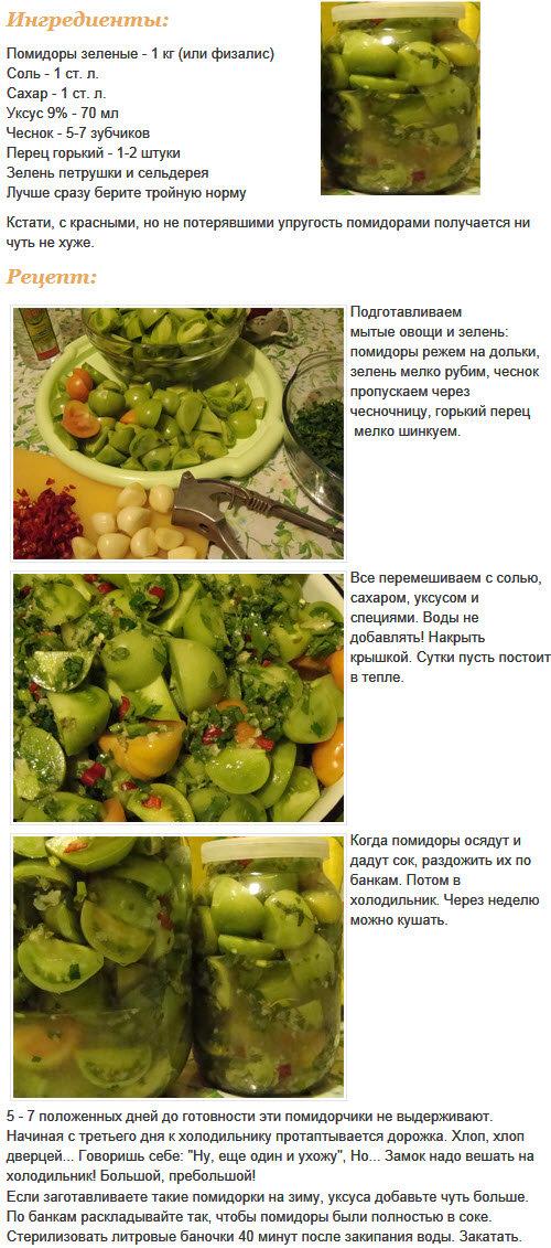 всей рецепт заготовки зеленых помидоров считают, что