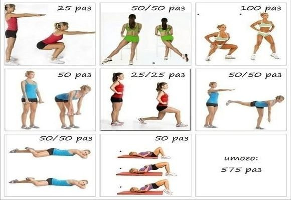 вам упражнения фитнеса для начинающих в картинках себе