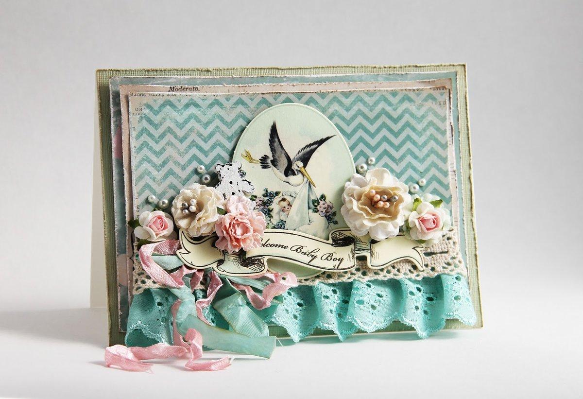 Текстильные открытки на день рождения
