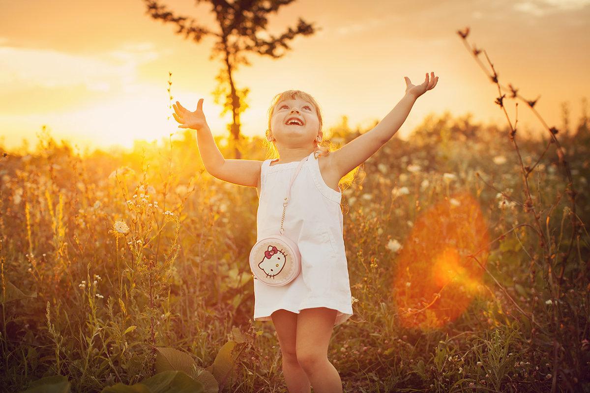 Солнечные фотографии детей