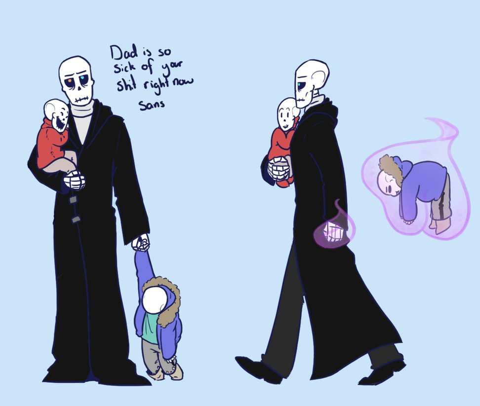 Gaster Sans Papyrus And Fan Art No Sans By Queensdaughters Card