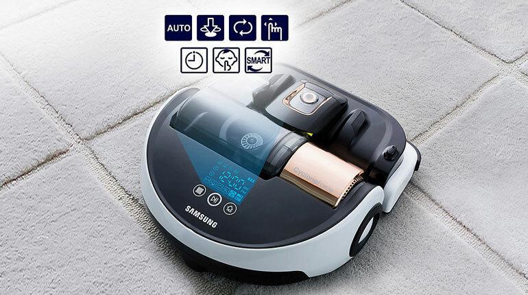 Samsung powerbot VR20H9050UW - мощный уборщик пола, ламината, паркета, ковров