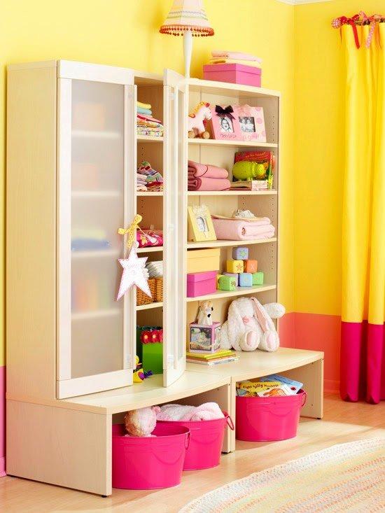 """Шкаф с открытыми полками и корзинами для игрушек"""" - карточка."""