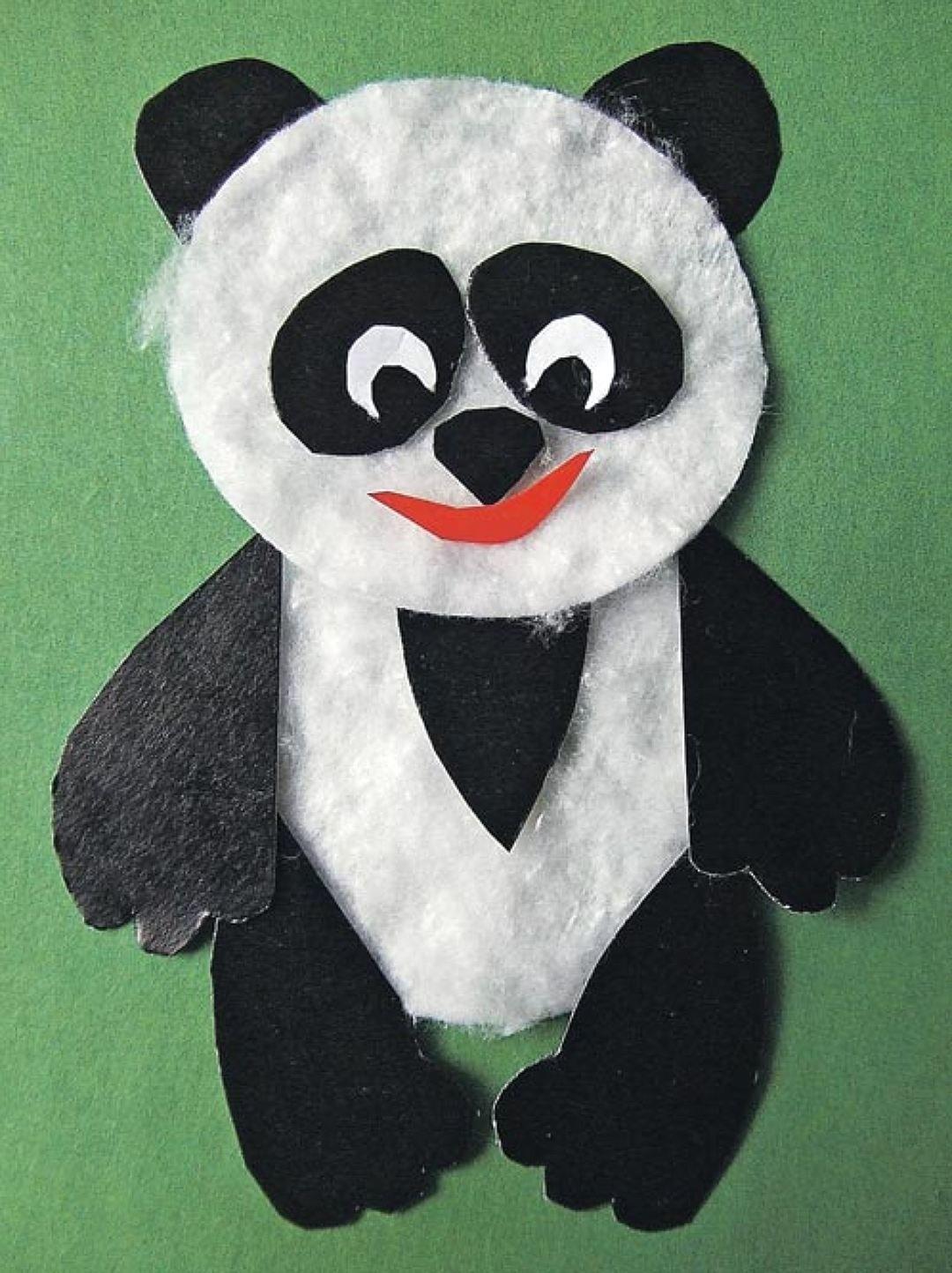 Лучшие мая, открытка своими руками панда