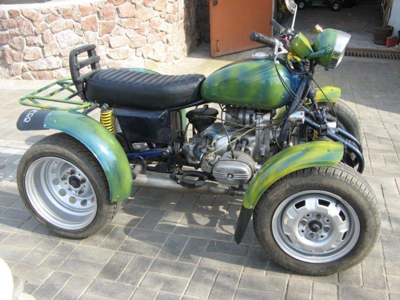 Квадроцикл из мотоцикла «Урал» и запчастей от ВАЗа)