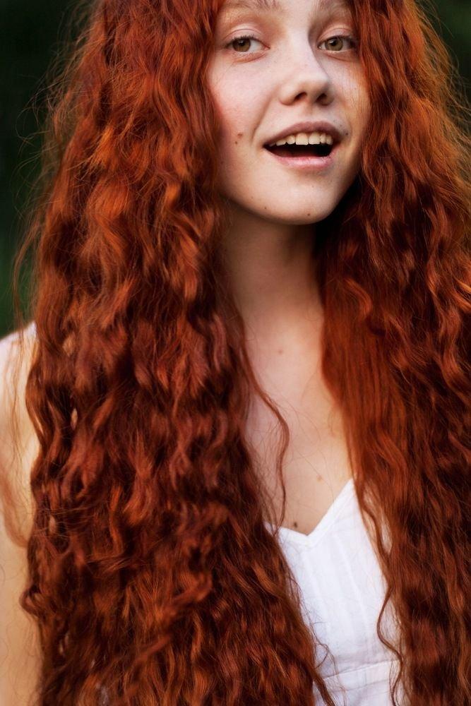 Кудрявые рыжие волосы фото