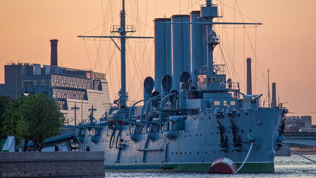 того, фото крейсера аврора в санкт петербурге раз