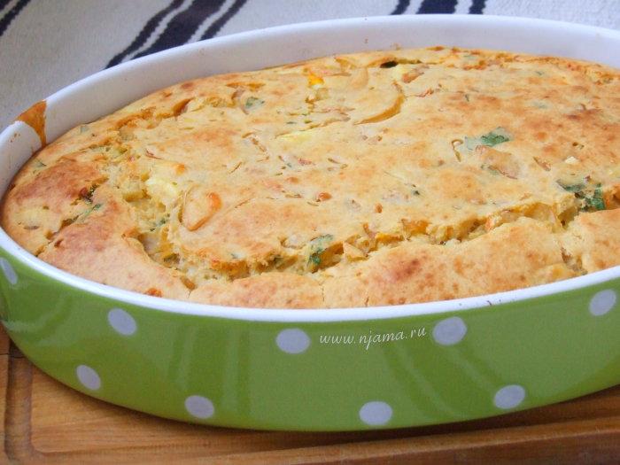 Заливной пирог с квашеной капустой рецепт
