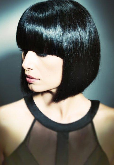 черные каре волосы фото