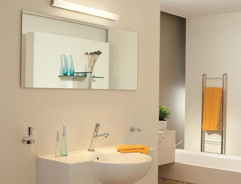 Настенные светильники для ванной комнаты над зеркалом