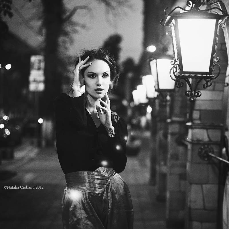 платье черно белая фотосессия на улице различные