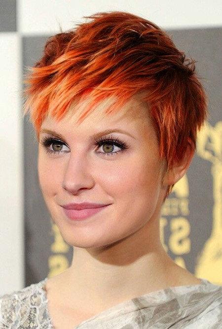 рыжие волосы короткая стрижка фото
