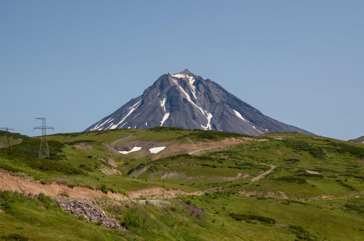 фотографии вилючинского вулкана на камчатке пойманной севере
